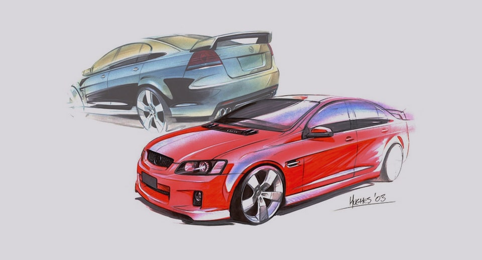 Holden Vehicle Sketches