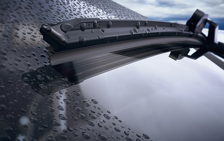 Closeup of Windshield Wiper